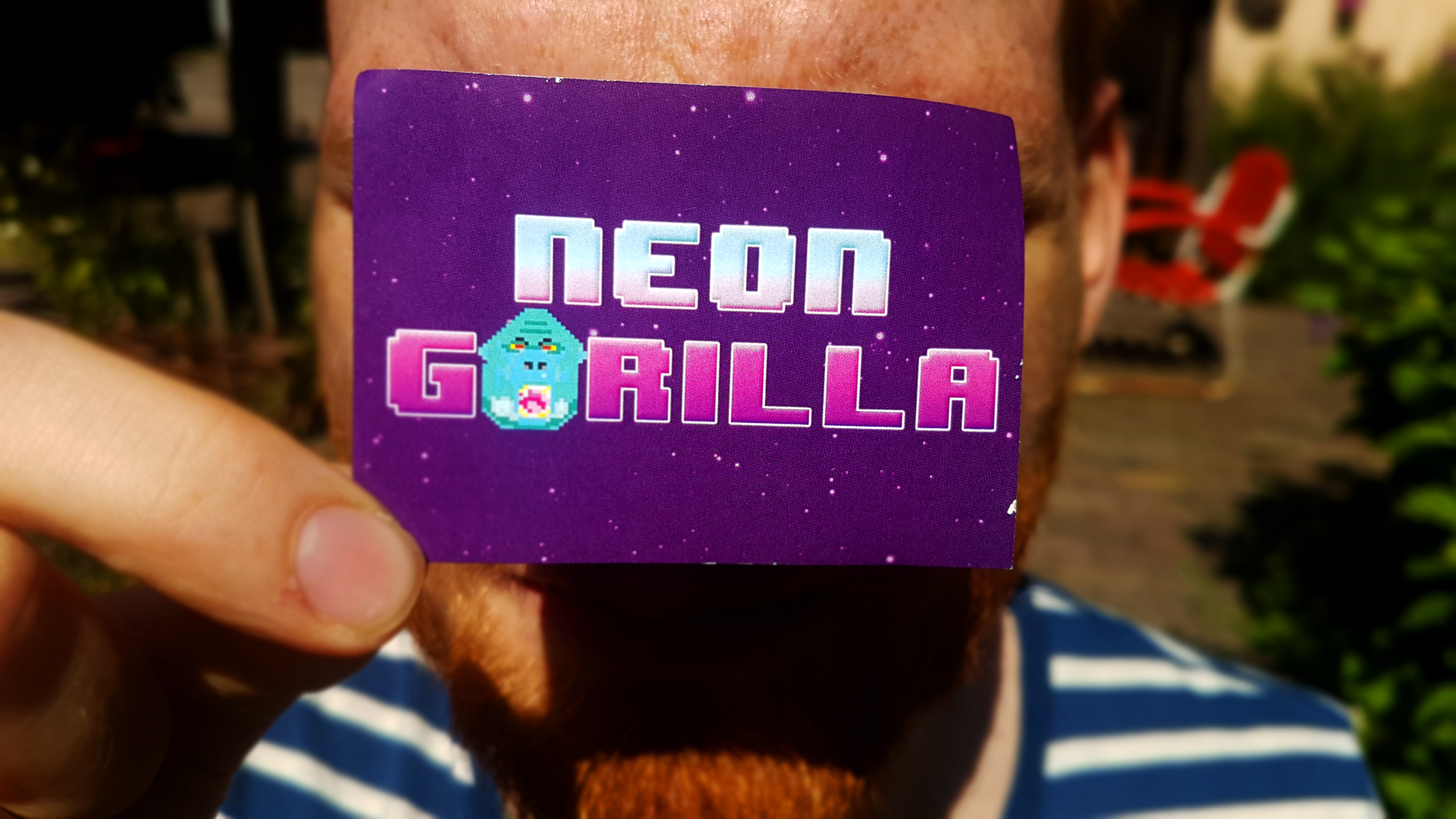 Neon Gorilla Sticker